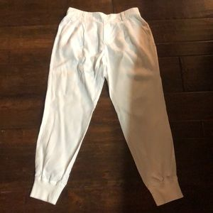 Michael Stars White Cotton pants,M,pull on,new